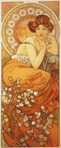 Topaz, Precious Stones Series, Alphonse Mucha